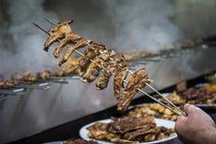 Comida turca tradicional - kebab Imagen de archivo