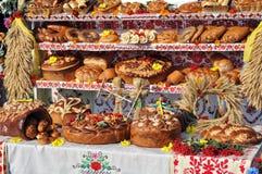 Comida ucraniana tradicional del postre del día de fiesta de la panadería Imagen de archivo