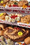 Comida ucraniana tradicional del postre del día de fiesta de la panadería Imagenes de archivo
