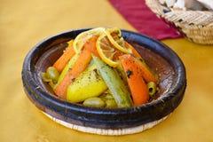 Comida vegetal del tagine Imágenes de archivo libres de regalías