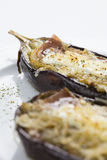 Comida vegetal llenada de la berenjena Imagen de archivo libre de regalías