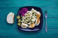 Comida vegetariana hecha en casa Foto de archivo