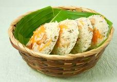 Comida vegetariana india de Rava Idli Fotografía de archivo