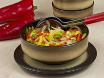comida vegetariana sin procesar de la pimienta Foto de archivo