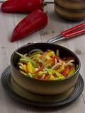 comida vegetariana sin procesar de la pimienta Foto de archivo libre de regalías