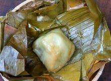Comida vietnamita, bola de masa hervida del arroz de la pirámide Imagen de archivo