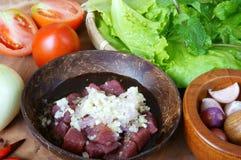 Comida vietnamita, laca de BO Lucas, carne de vaca Imagenes de archivo