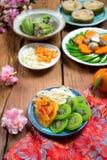 Comida vietnamita para el día de fiesta de Tet en la primavera, es comida tradicional en Año Nuevo lunar Imagenes de archivo