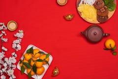 Comida vietnamita para el día de fiesta de Vietnam Tet, también Año Nuevo lunar de Fotos de archivo libres de regalías