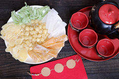 Comida vietnamita, Tet, atasco, Año Nuevo lunar de Vietnam Foto de archivo libre de regalías