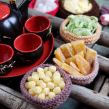 Comida vietnamita, Tet, atasco, Año Nuevo lunar de Vietnam Foto de archivo