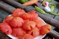 Comida vietnamita, Tet, atasco del tomate, consumición dulce Imágenes de archivo libres de regalías