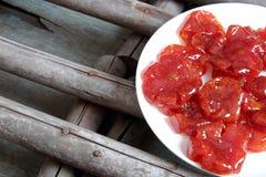 Comida vietnamita, Tet, atasco del tomate, consumición dulce Imagen de archivo libre de regalías