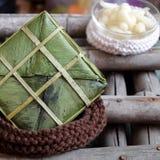 Comida vietnamita, Tet, banh Chungkin, comida tradicional Imagenes de archivo