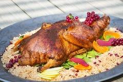 Comida y arroz - cena de Turquía del almuerzo, Fotografía de archivo