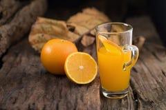 Comida y bebida anaranjadas Ea sano nutritivo de Juice Orange Vitamin C foto de archivo