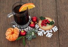 Comida y bebida de Christamas Fotos de archivo libres de regalías