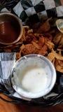 Comida y bebida del ejemplo del menú del restaurante foto de archivo libre de regalías