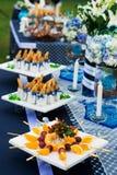 Comida y bebidas de lujo Fotografía de archivo libre de regalías