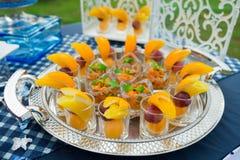Comida y bebidas de lujo Imagen de archivo libre de regalías