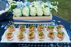 Comida y bebidas de lujo Fotografía de archivo