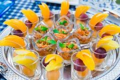 Comida y bebidas de lujo Fotos de archivo libres de regalías