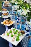 Comida y bebidas de lujo Imagen de archivo