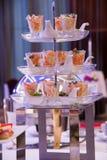 Comida y cócteles de abastecimiento del partido Imagen de archivo libre de regalías