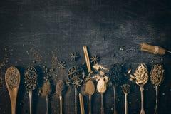 Comida y especias Foto de archivo libre de regalías
