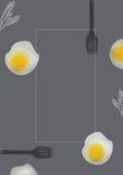 Comida y huevos Fotografía de archivo libre de regalías
