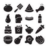 Comida y paquete del vector de la dieta stock de ilustración