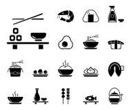 Comida y sushi asiáticos - Iconset - iconos stock de ilustración