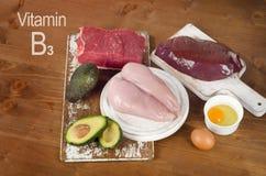 Comidas altas en la niacina (vitamina B3) fotos de archivo