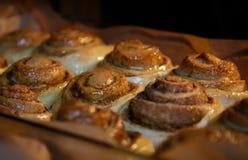 Comidas cocidas sabrosas, arte culinario, galletas del canela Foto de archivo libre de regalías