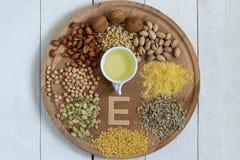 Comidas con la vitamina E fotos de archivo libres de regalías
