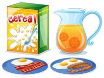 Comidas de desayuno Imagen de archivo libre de regalías