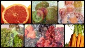 Comidas de la salud almacen de metraje de vídeo