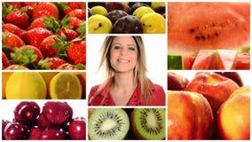 Comidas de la salud almacen de video