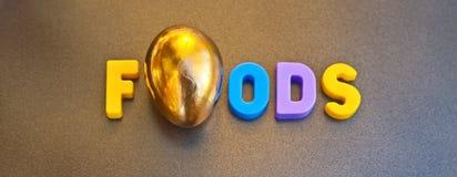 Comidas de oro fotografía de archivo libre de regalías
