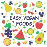 Comidas fáciles del vegano Concepto sano libre illustration