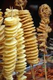Comidas fritas de la calle Imagen de archivo libre de regalías