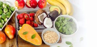 Comidas lo más arriba posible en fibra Alimento de la dieta sana fotos de archivo libres de regalías