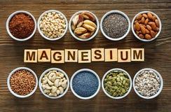 comidas ricas en magnesio fotografía de archivo