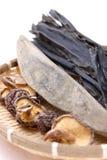 Comidas secadas típicas para la acción de sopa japonesa Fotos de archivo
