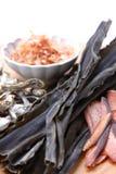 Comidas secadas típicas para la acción de sopa japonesa Foto de archivo