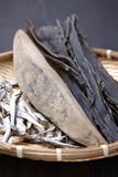 Comidas secadas típicas para la acción de sopa japonesa Imagenes de archivo