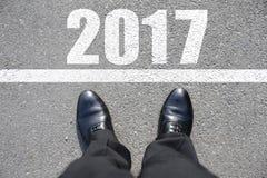 Comience al Año Nuevo 2017 Foto de archivo libre de regalías