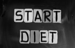 Comience el concepto de la dieta Imagen de archivo libre de regalías