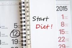 Comience el concepto de la dieta Fotografía de archivo libre de regalías