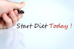 Comience el concepto de la dieta hoy Fotos de archivo libres de regalías